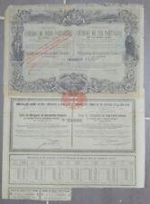 Action 1879 CHEMINS DE FER PORTUGAIS de la BEIRA ALTA  titre bond share 3