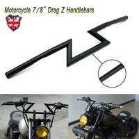 "UK 7/8"" 22mm Touring Custom Motorcycle Drag Z-Bar Handlebar for Honda Kawasaki"