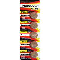 5 Pcs Panasonic CR2032 Button Cell Lithium Battery 3V. **EXP. 2028** FREE RETURN