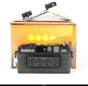 "Vintage ""Nimslo 3D"" Quadra Lens 35mm Film Camera W/ Instructions, Manual & Box"