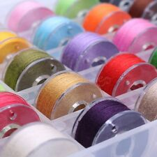 25 Pcs Set Assorted Color Cotton Thread Spool Spun Sewing Supplies Quilting