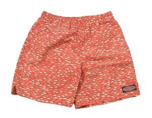 Vineyard Vines Boys Jetty Red Fish Printed Chappy Swim Shorts