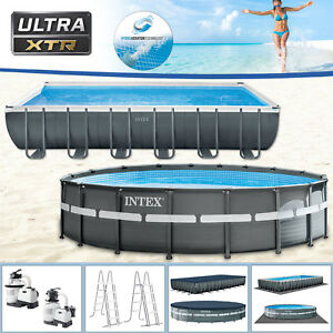 Intex Swimming Pool XTR Frame Pool mit Sandfilter Schwimmbecken Schwimmbad