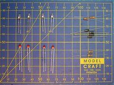 K9- éclairage 4 phares LED 4x ronde 3 mm / téton court 1,8 mm loco JOUEF HO