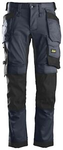 SNICKERS WORK TROUSERS ALLROUNDWORK 6241 STRETCH HOLSTER POCKET TROUSERS. NAVY