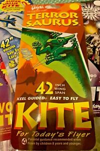 "GAYLA INDUSTRIES 42"" x 22"" Pterodactyl Delta Wing Kite Flying Dinosaur"