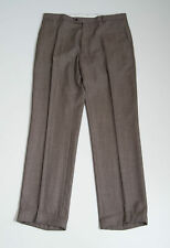 MENS TOMMY HILFIGER SUIT TROUSERS 100 % WOOL PANTS BROWN SIZE W 37 EXCELLENT