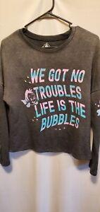 Disney Parks The Little Mermaid Flounder Ruffle Sweatshirt - XS-NWT