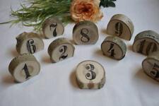Rustic Wedding Table Numbers - Wood Slice Table Number - Standing Wedding Number