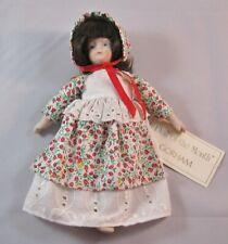 """Vtg Doll of the Month Gorham June 1987 with Tag 7-1/2"""" tall"""