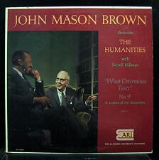 John Mason Brown - What Determines Taste LP VG+ JMB 9 Vinyl Mono 1956