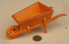 1:12 Scale Large Wooden Wheel Barrow Dolls House Miniature Garden Accessory SA