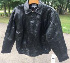 New Italian Blk Leather Coat XL Fondini Fashions 2005 Mens Biker Winter Jacket