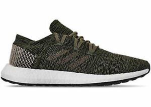 Adidas Size 11.5 Men's Pureboost Go Energy Running Sneakers Base Green AH2325