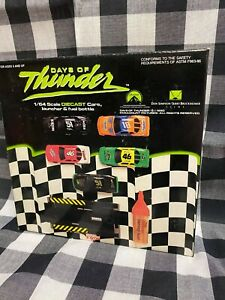 ACTION PRODUCTS, INC DAYS OF THUNDER RACE CARS WITH LAUNCHER AND FUEL BOTTLE