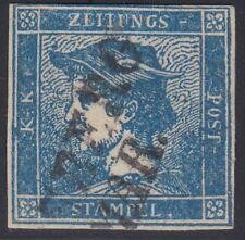 Österreich 1851 Nr. 6 I Merkurkopf dunkelblau Befund BPP