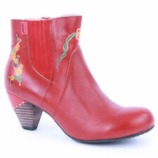 Zip Floral 100% Leather Upper Boots for Women