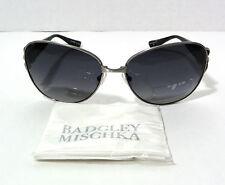 BADGLEY MISCHKA Sunglasses Sylvie Gunmetal Frame Polarized Lens 59-15-125mm
