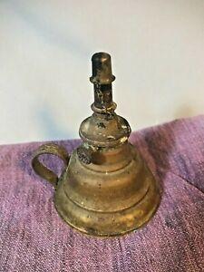 Antique Miniature Brass Oil Lamp patent date June 28, 1803