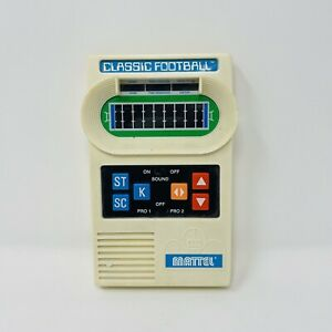 Vintage Mattel Electronics Handheld CLASSIC FOOTBALL Game w/ Sound Works Great!