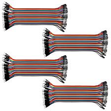 4pk 40 Wire Male Female Jumper Wire 20cm 40p Color Ribbon Breadboard Cable Usa