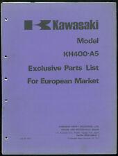 Parts List complémentaire KAWASAKI KH 400 A5 Exclusive Catalogue pièces European