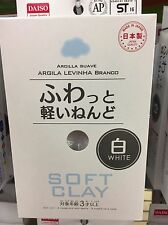 DAISO JAPAN DIY Soft Clay Arcilla Suave Lightweight WHITE Made In JAPAN F/S