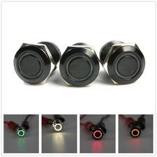12v Black 4 Pin 12mm Led Light Metal Push Button Momentary Switch Waterproof