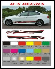 Car Side Stripe Decals Graphics Stickers BG068 Any Colour both sides