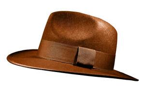 Adult Mens Adventurer Hat 1940's Jones Brown Fedora Costume Accessory