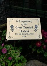 Custom Memorial Stake Grave/Tree Marker Cremation with Personalised Plaque