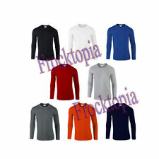 Jersey Long Sleeve Crew Neck Basic T-Shirts for Men