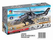 Woma Air Strike Apache Helikopter  5 in 1 Bausteine Set 387 Teile J5640A