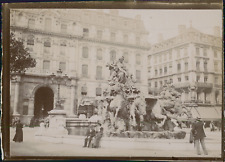 Italie, Milan, Fontaine, ca.1900, Vintage citrate print Vintage citrate print
