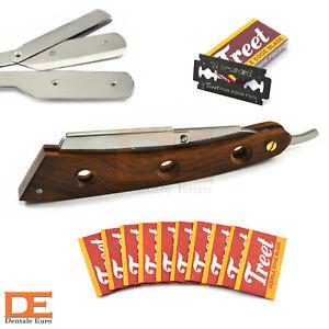 Razor Wooden Handle Men's Skin Care Cut Throat Folding Knife Razor