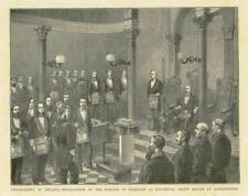 1881 antica stampa-Irlanda Londonderry i massoni Marchese Hamilton (66)