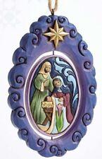 Jim Shore~HOLY FAMILY ROTATING DISK ORNAMENT~NEW~NIB~Nativity~CHRISTMAS~4055358