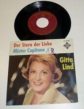 """GITTA LIND """"Mister Capitano"""" 1963 EX/VG+ PS 45 Schlager 60s Telefunken"""