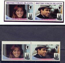 BRITISH VIRGIN ISLANDS 1986 Wedding Prince Andrew & Sarah MISSING LILAC COLOUR