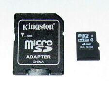 1 Used Unbranded 4GB MicroSDHC Memory Card & Kingston Micro SD Adapter Guarantee