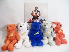 Set Lot 5 Plush Bears Mays Mantle Reggie Jackson's Octobears Promo 1999 w Photo