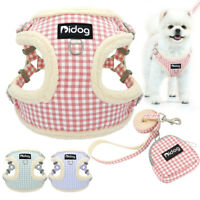 Small Dog Harness&Leash&Treat Bag Pet Cat Puppy Fleece Lined Soft Vest Schnauzer