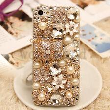 Rhinestone Lady's Diamond Bling Jewelled Crystal 3D Hard Back Phone Case Cover