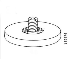 (1) x IKEA # 152676 New Adjustable Gray Plastic Threaded Foot Replacement Parts