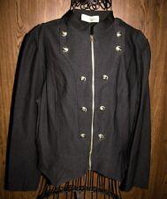 HyBrid & Company Women's Military Crop Stretch Black Jacket  Size 2X