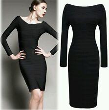 Black Pencil Bodycon Dress Size 10
