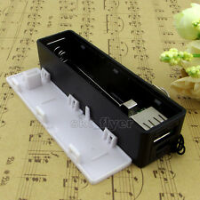 Black Mobile Power Bank Emp Box 5V 1A USB for 18650 Battery Charger iPhone