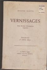 Eugene Martin - Vernissages  avec 18 lithographies originales - 1946 . Vésenaz