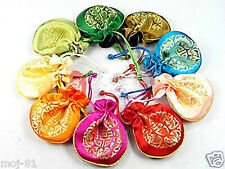 8PCS CHINESE HANDMADE SILK WEALTH JEWELRY BAG GIFT BAG PURSE WALLET POUCHES