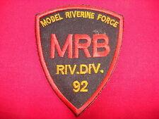 US Navy River Division 92 MOBEL RIVERINE FORCE MRB Vietnam War Patch